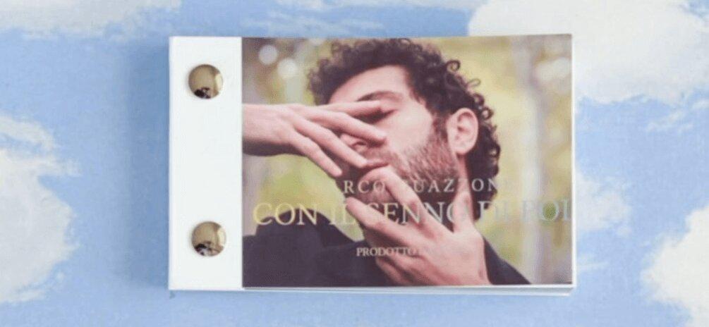 la copertina del flipbook di Marco Guazzone per l'uscita del singolo prodotto da elisa toffoli illustrato da nico vecchione
